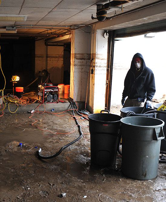 Flood Cleanup Residential Garage